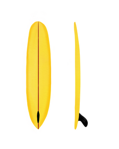 Single Fin Yellow