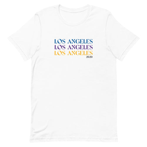 Lakers + Dodgers Los Angeles '20 Stacked Unisex Tee