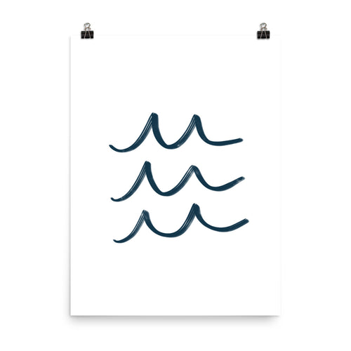 Navy Simple Waves - Large