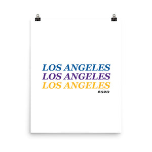Lakers + Dodgers '20 Los Angeles x3 Print