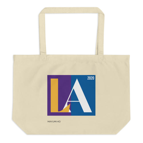 Lakers + Dodgers LA '20 Large Tote Bag