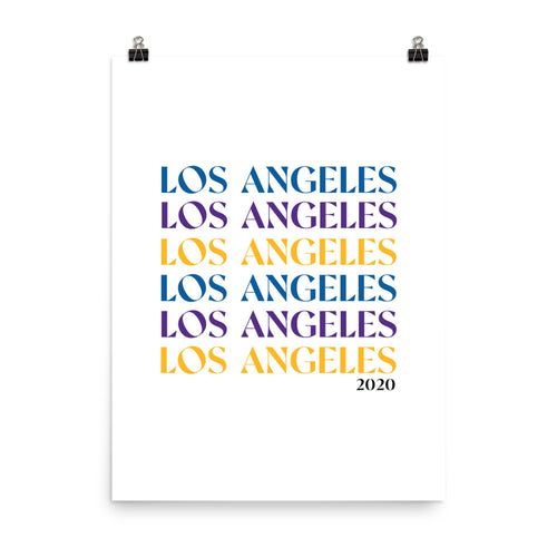 Lakers + Dodgers Los Angeles '20 Print