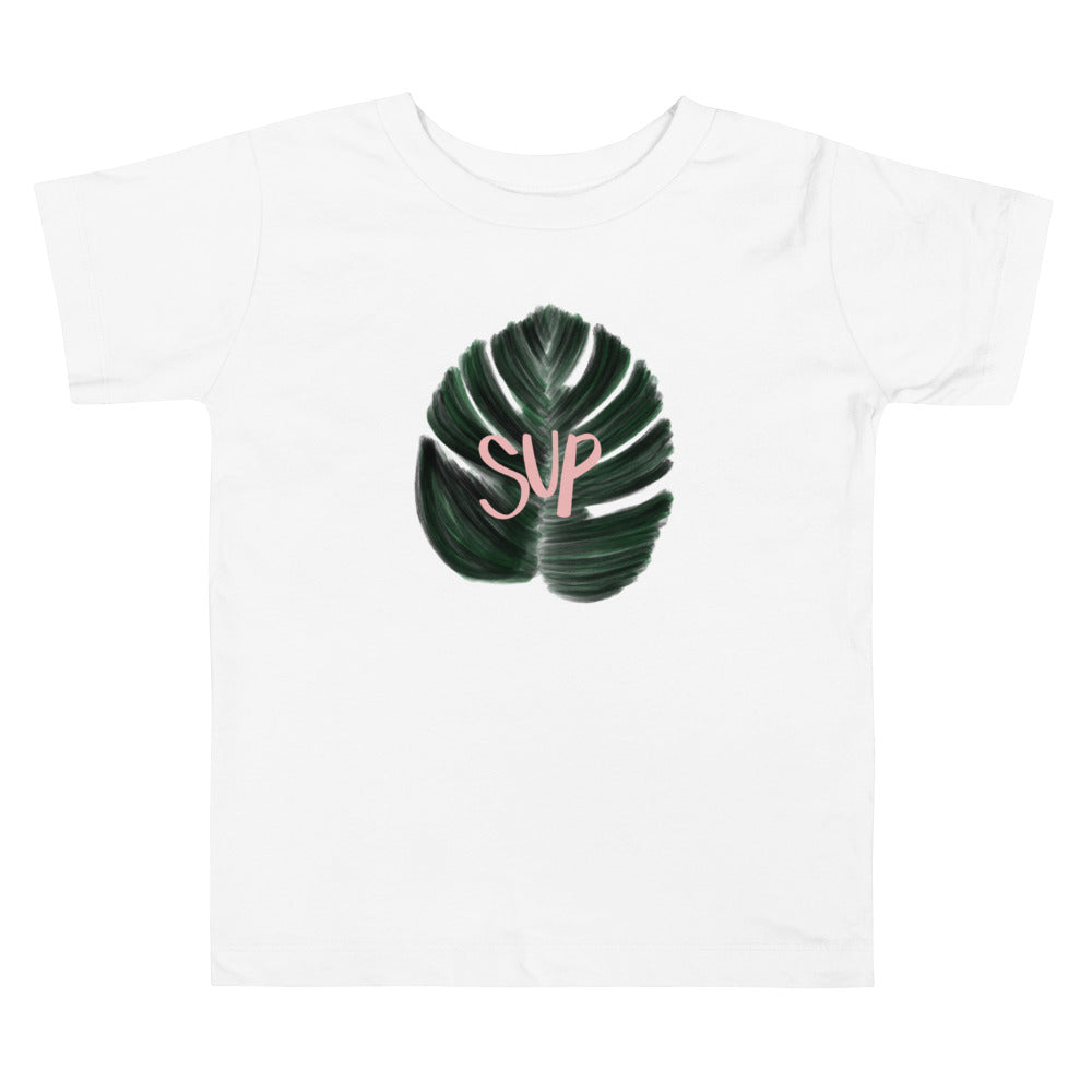 Sup Monstera Toddler Short Sleeve Tee