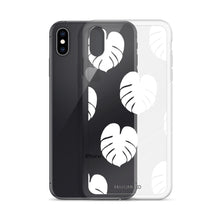 Simple Monstera iPhone Case - White