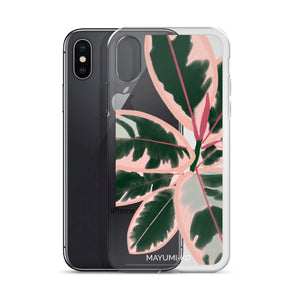 Ruby Rubber Plant iPhone Case