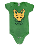 Yellow Fox [KELLY GREEN] Onesie or T-shirt