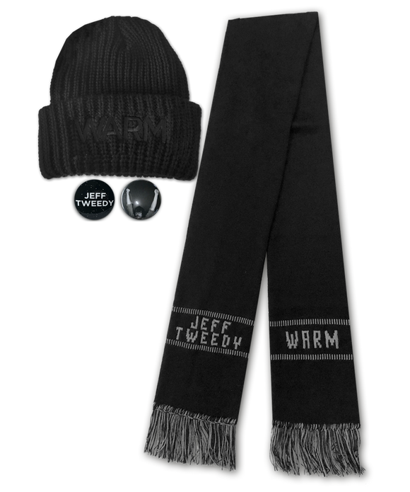 Jeff Tweedy Warm Accessories Bundle (Hat+Scarf+Buttons)