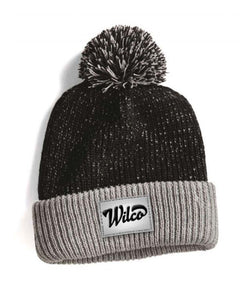Foldover Knit Beanie With Pom Pom