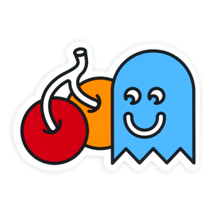 Cherry Ghost Sticker