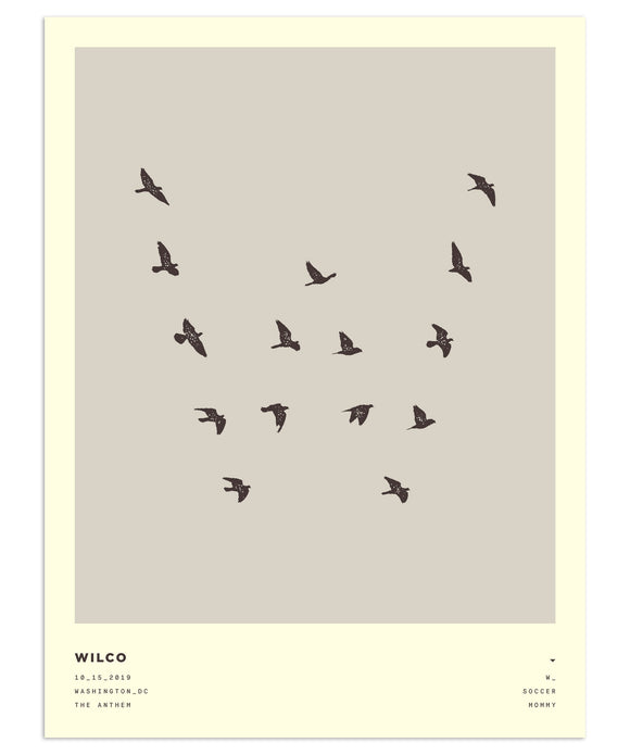Birds in Formation Poster