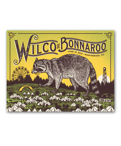 Bonnaroo Raccoon Poster