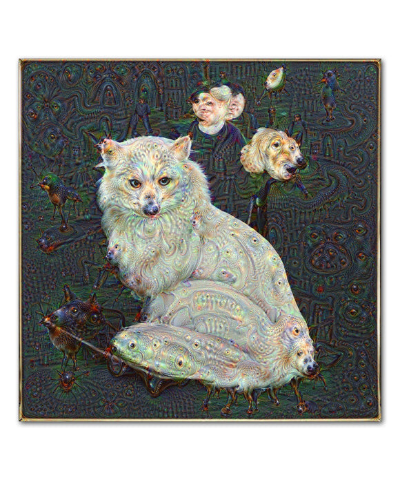 Deep Dream Kitty Print
