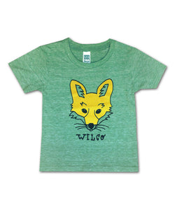 Kid's Yellow Fox [HEATHER GREEN] T-shirt