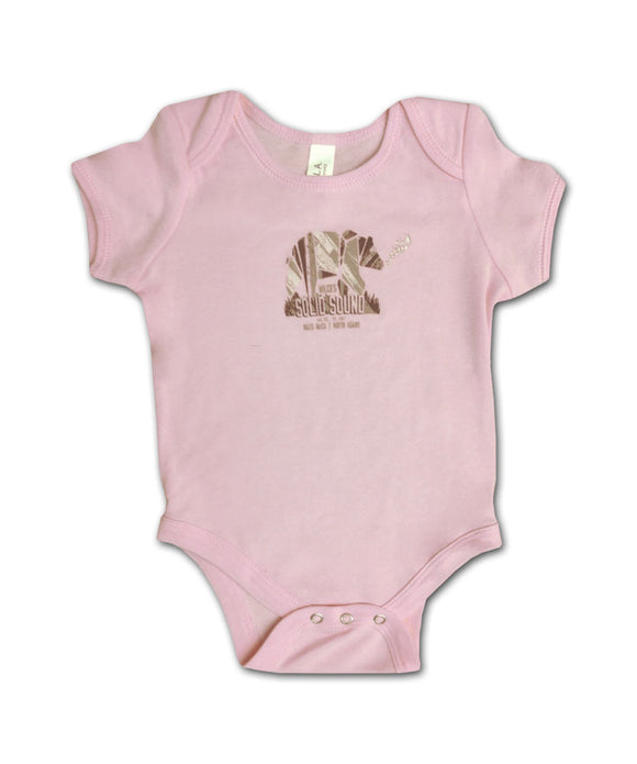 Solid Sound Bear [PINK] Onesie