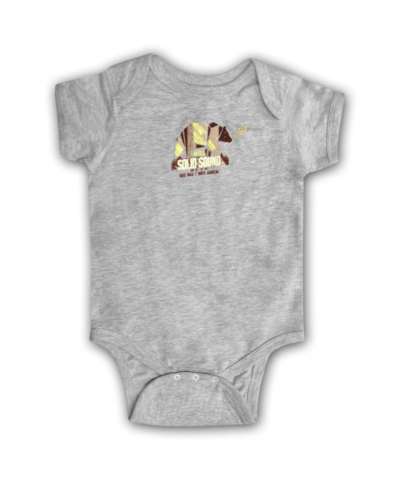 Solid Sound Bear [GREY] Onesie