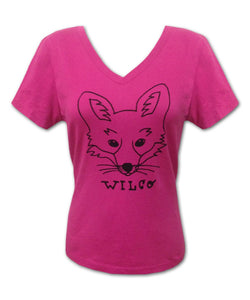 Women's Fox [PINK] V-neck T-shirt