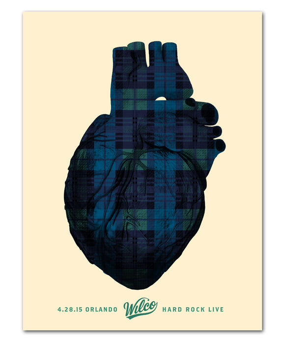 Plaid Heart Poster
