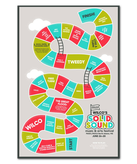 Wilco Solid Sound Festival 2015 Game Poster