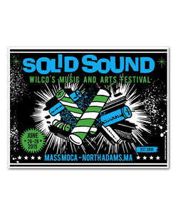 Wilco Solid Sound Festival 2015 Fireworks Poster