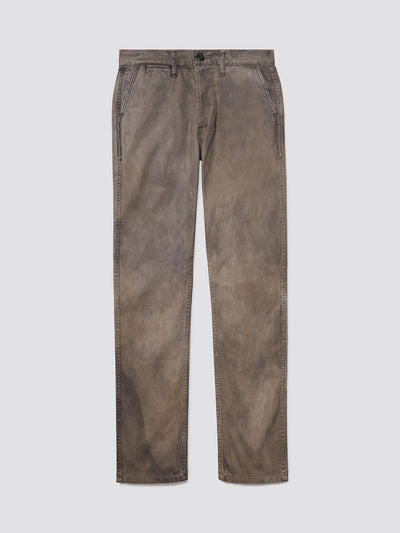3SIXTEEN X ALPHA HERRINGBONE CHINO PANTS BOTTOM Alpha Industries IRON DYED 28