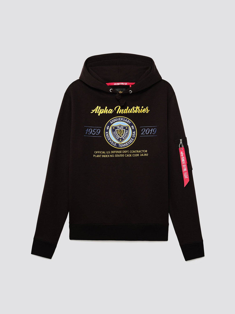 60TH ANNIVERSARY 59-19 HOODIE TOP Alpha Industries BLACK 3XL