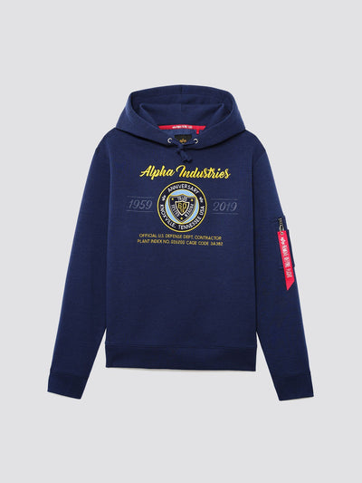 60TH ANNIVERSARY 59-19 HOODIE TOP Alpha Industries NEW NAVY 3XL