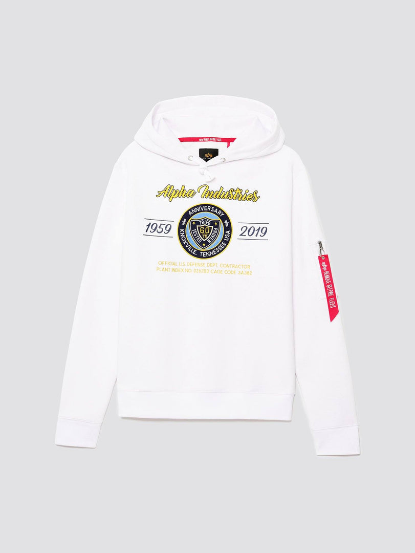60TH ANNIVERSARY 59-19 HOODIE TOP Alpha Industries WHITE 2XL