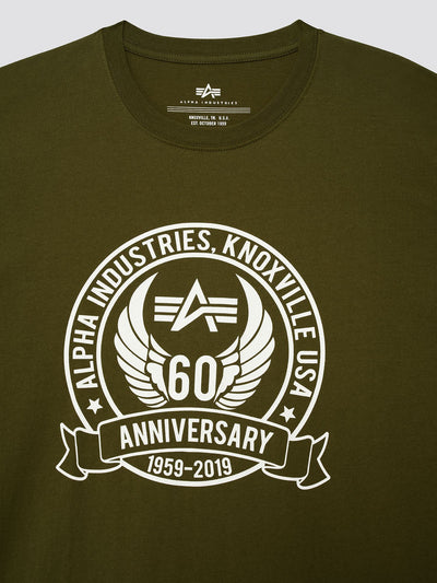 60TH ANNIVERSARY TEE SHIRT TOP Alpha Industries