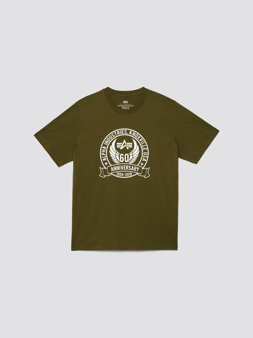60TH ANNIVERSARY TEE SHIRT TOP Alpha Industries DEEP OLIVE 3XL