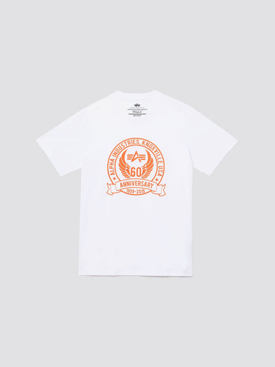 60TH ANNIVERSARY TEE SHIRT TOP Alpha Industries WHITE 3XL
