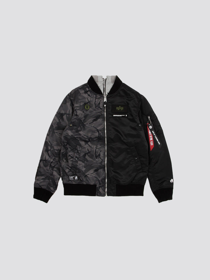 AAPE X ALPHA L-2B REV BOMBER JACKET OUTERWEAR Alpha Industries, Inc. BLACK 2XL