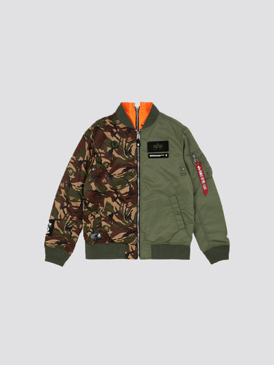 AAPE X ALPHA L-2B REV BOMBER JACKET OUTERWEAR Alpha Industries, Inc. SAGE L