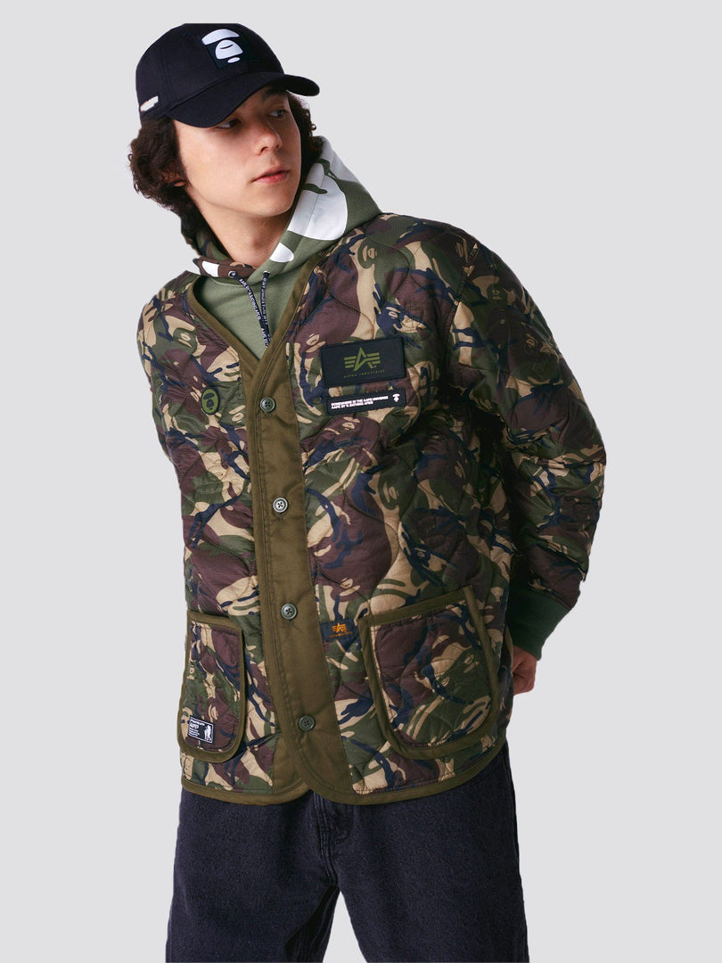 AAPE X ALPHA M-65 DEFENDER LINER OUTERWEAR Alpha Industries