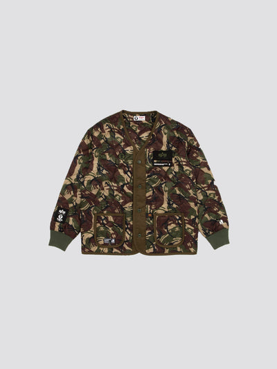 AAPE X ALPHA M-65 DEFENDER LINER OUTERWEAR Alpha Industries GREEN CAMO S