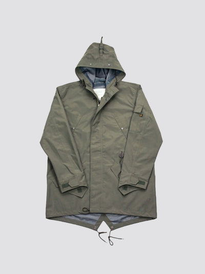 ACE HOTEL'S RAIN JACKET OUTERWEAR Alpha Industries OLIVE GREEN L