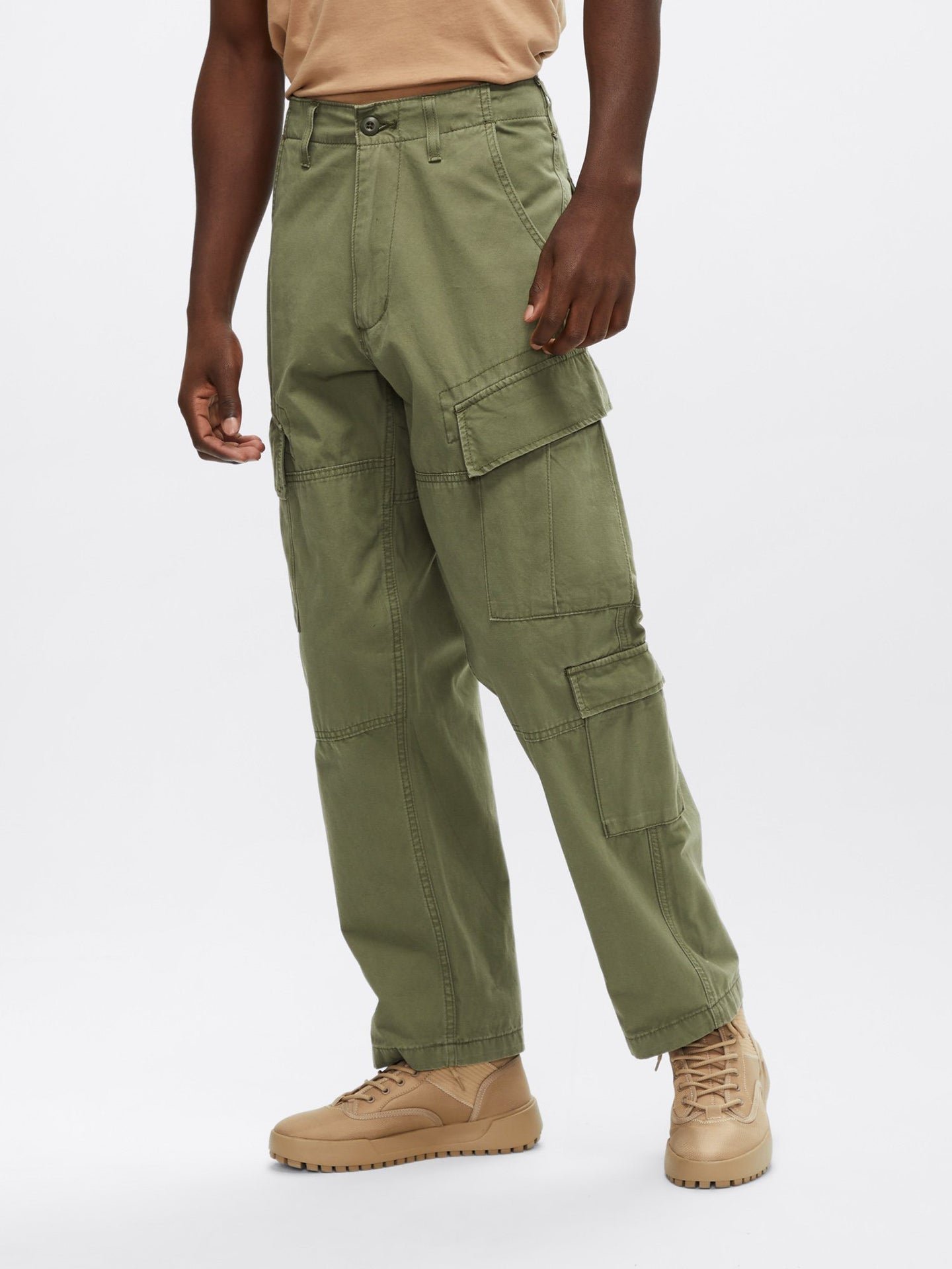 A.C.U. TYPE CARGO PANT BOTTOM Alpha Industries, Inc. OLIVE L