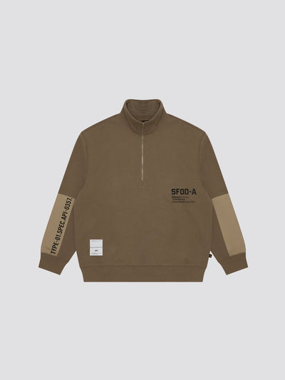 ALPHA CREWNECK TOP Alpha Industries, Inc. KHAKI L