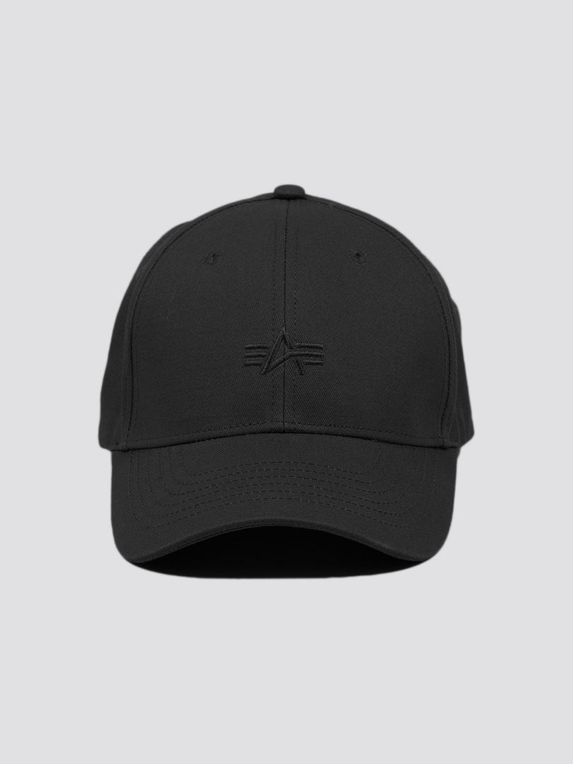 ALPHA EMBROIDERED CAP ACCESSORY Alpha Industries, Inc. BLACK O/S