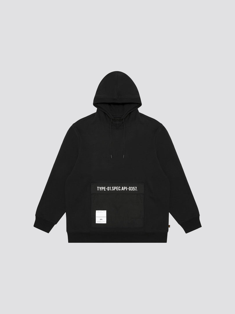ALPHA HOODIE TOP Alpha Industries, Inc. BLACK L
