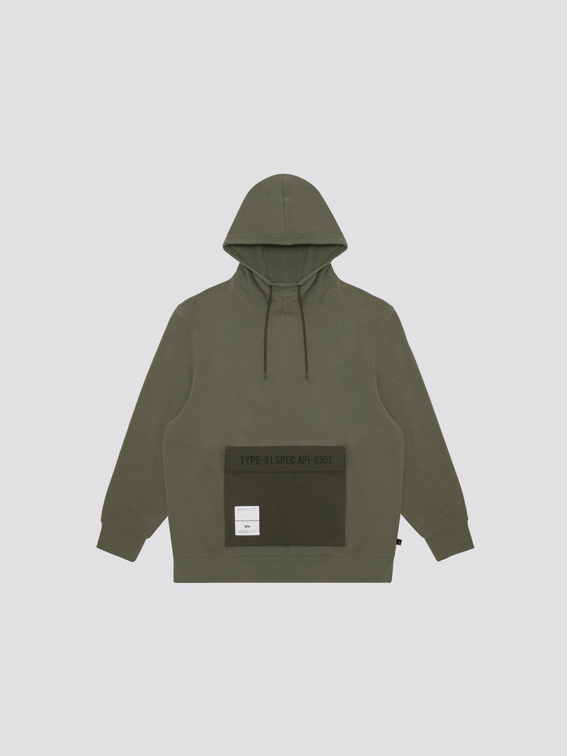 ALPHA HOODIE TOP Alpha Industries, Inc. OLIVE L