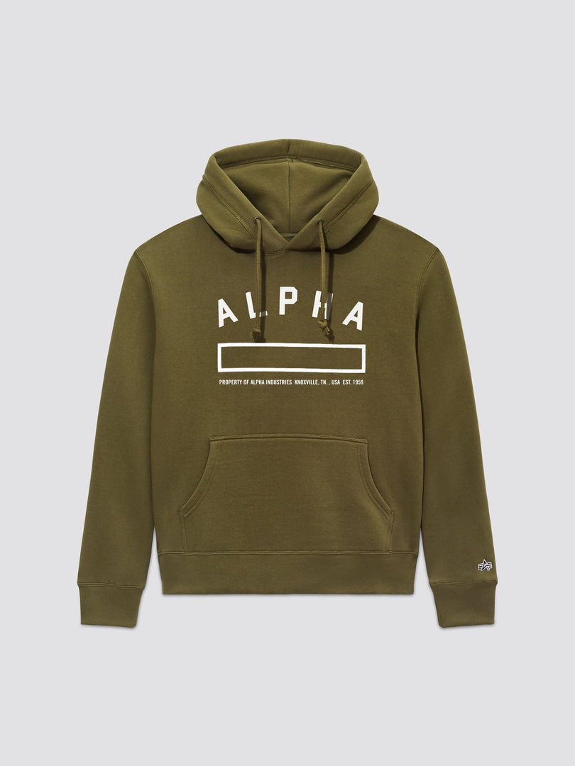 ALPHA PROPERTY HOODIE TOP Alpha Industries, Inc. OLIVE 2XL