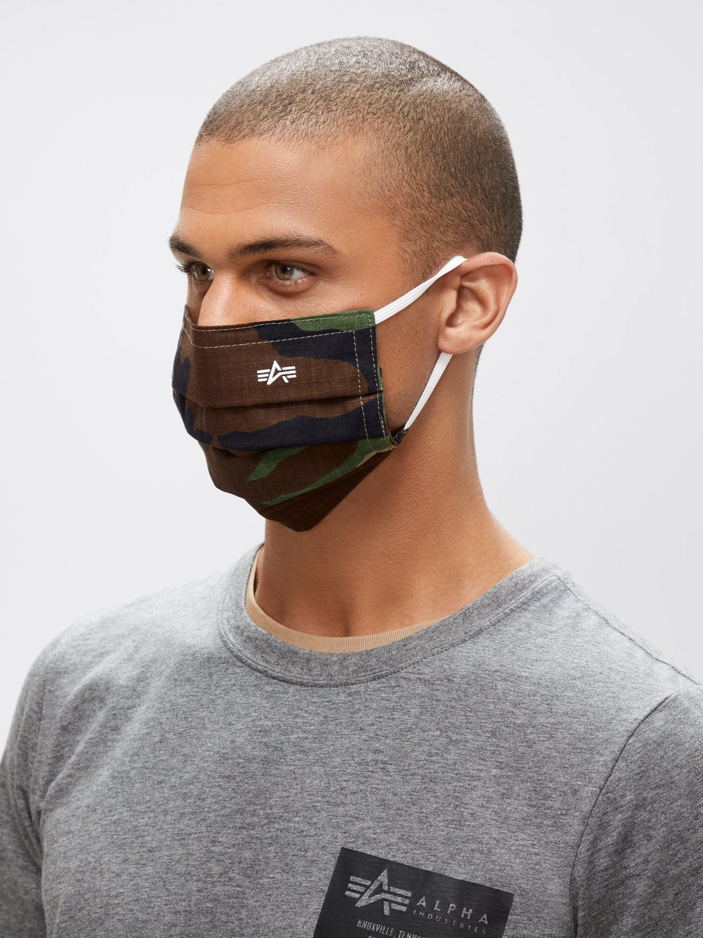 ALPHA SURGICAL STYLE MASK ACCESSORY Alpha Industries, Inc. WOODLAND CAMO O/S