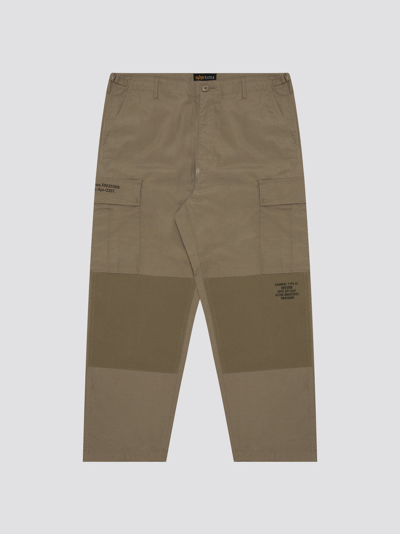 ARMY LOOSE CARGO PANTS BOTTOM Alpha Industries, Inc. BEIGE L