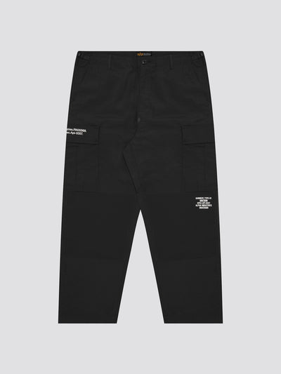 ARMY LOOSE CARGO PANTS BOTTOM Alpha Industries, Inc. BLACK L