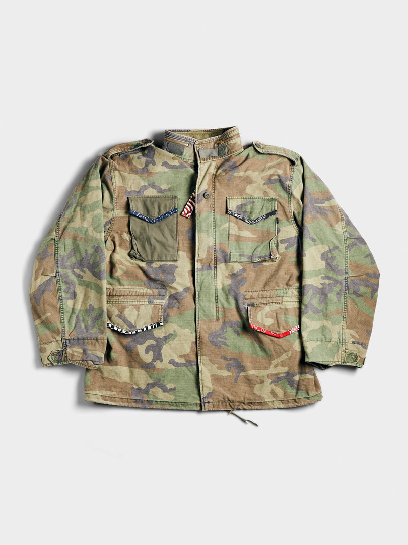 ATELIER & REPAIRS & ALPHA HAPPY FIELD JACKET OUTERWEAR Alpha Industries, Inc. WOODLAND CAMO 2XL