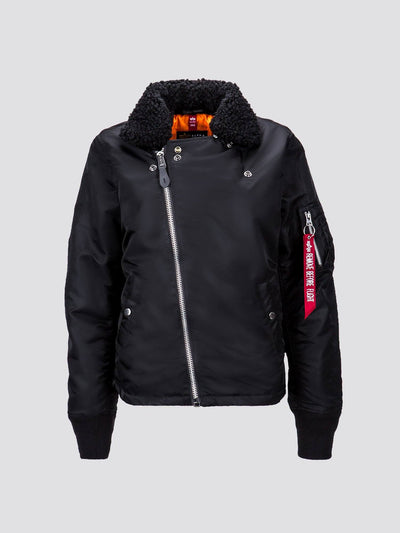 B-15 STRAIGHT HEM MOD BOMBER JACKET W SALE Alpha Industries BLACK L