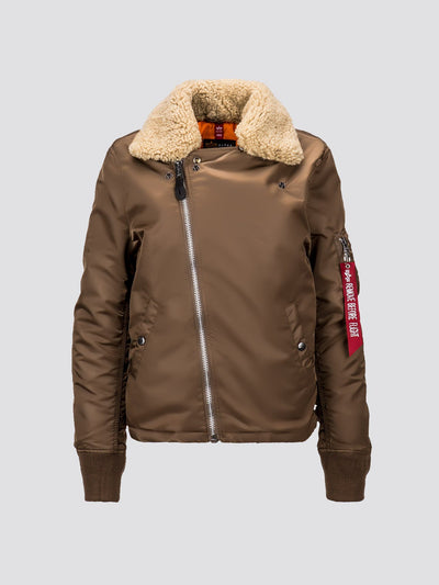 B-15 STRAIGHT HEM MOD BOMBER JACKET W SALE Alpha Industries COYOTE BROWN L