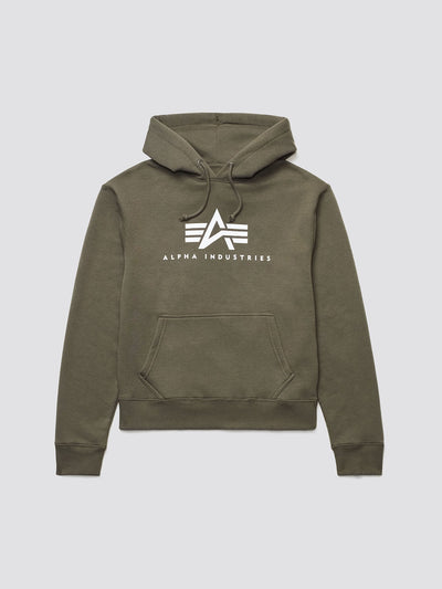 BASIC LOGO HOODIE TOP Alpha Industries OLIVE 2XL