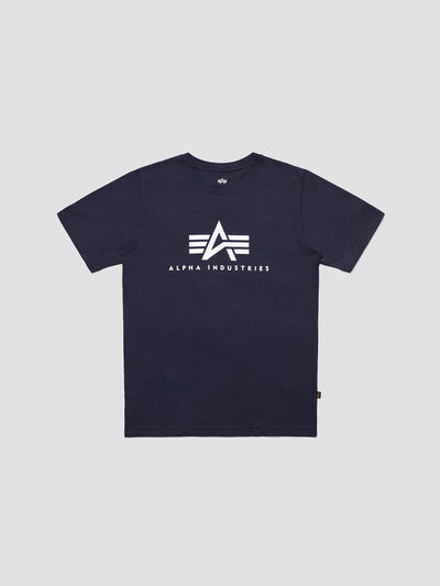 BASIC LOGO TEE TOP Alpha Industries REPLICA BLUE 2XL