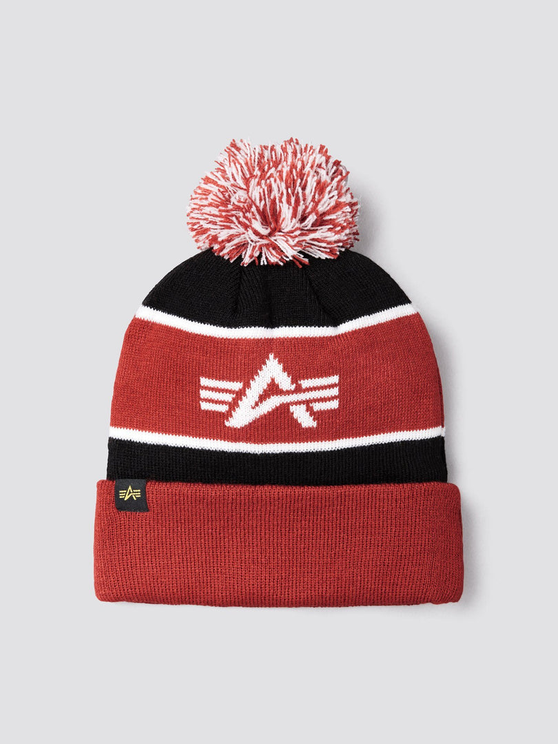 BLOCK BOBBLE BEANIE ACCESSORY Alpha Industries, Inc.